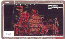 Télécarte Japon - 110-67651 - DISNEY - DISNEYLAND - ELECTRICAL PARADE  Train (6311) Japan Phonecard * Telefonkarte - Disney