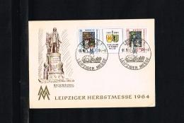 1964 - GDR Card With Mi. 1052-1053 - Exhibitions - Leipziger Herbstmesse [HC004] - Brieven En Documenten