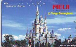 Télécarte Japon / 110-81899 - DISNEY DISNEYLAND - Château Du Parc (6312) Castle Japan Phonecard Telefonkarte - Disney
