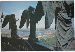 Leningrad: Colonnades De La Cathédrale Saint-Isaac - Colonnade St. Isaac (Jumbo Sized Postcard; 25 Cm X 17 Cm) - Rusland