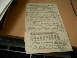 Vogel Frigyes  Szerszam Es Gepgyarto Budapest - Facturas & Documentos Mercantiles