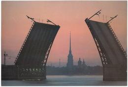 Leningrad: Nuit Blanche - Pont - Neva - White Night - Palace Bridge (Jumbo Sized Postcard; 25 Cm X 17 Cm) - Rusland