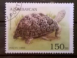 FRANCOBOLLI STAMPS AZERBAIJAN 1995 SERIE TESTUGGINI E TARTARUGHE - Azerbaijan