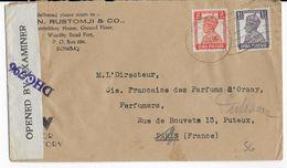 INDIA - 1945 - ENVELOPPE De BOMBAY Avec CENSURE ANGLAISE => PARIS => PUTEAUX - 1936-47 King George VI