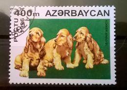 FRANCOBOLLI STAMPS AZERBAIJAN 1996 SERIE CANI DOMASTICI - Azerbaijan