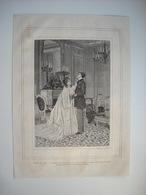 GRAVURE 1873. SALON DE 1873. LA CORDE AU COU. D'APRES UN TABLEAU DE M. ALPHONSE HIRSCH. - Music & Instruments