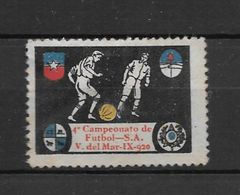 CUARTO CAMPEONATO DE FUTBOL SUR AMERICANO VIÑA DEL MAR SEPTIEMBRE 1920 URUGUAY BRASIL ARGENTINA CHILE - Chile