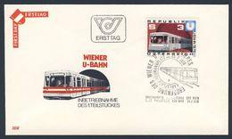 Oostenrijk Austria Österreich 1978 FDC + Mi 1567 YT 1397 ** Inbetriebnahme 1. Teilstückes Wiener U-Bahn / Underground - Treinen