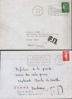 Curiosité Courrier Avec Marques FD (Fausse Direction) Griffe Locale Apposée à Joigny, Normalisée - Variedades Y Curiosidades