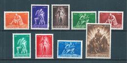 Belgique Timbre De 1945  N°701 A 709 ( 6 Neuf ** Et 3 Neufs *) - Belgien