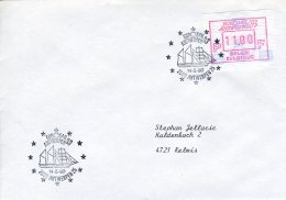 (B) ATM90 FDC Brief 1993 - Eurosail '93 11 BEF - Frankeervignetten