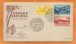 Spanish Sahara 1950 FDC - Spanische Sahara