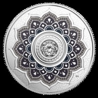 Coins Of Canada 2018. April Birthstone - Pure Silver Coin With Swarovski ® Crystals - Circulation: 4000 - Canada