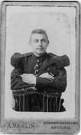 Portrait D'un Militaire - Photographe A. MESLIN à Anvers - Anonyme Personen