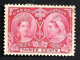 CANADA 3 CENTS RED QV HEAD 1897 OUT OF SET? MINTH NO GUM SG126 CV10POUNDS  READ DESCRIPTION!! - Ongebruikt