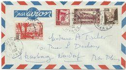 LETTRE PAR AVION 1952 AVEC 4 TIMBRES - Marokko (1891-1956)