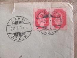 LETTRE RUSSIE RUSSE LAHTI BORGA - 1857-1916 Empire