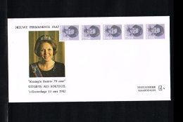 1982 - Netherlands FDC W50T5 Semi - Famous People - Royalty - Queen Beatrix 70c Coilstamp (5 Strip) [VZ005_20] - FDC