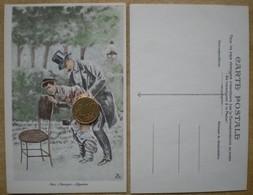 1 CP Vierge Coquine AUX CHAMPS ELYSEES Illustrateur JR - Illustrators & Photographers