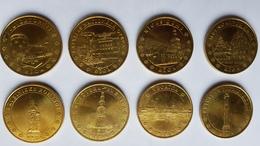 Lot De 8 Médailles Touristiques MDP De La Lettonie - Monnaie De Paris