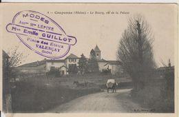 D69 - CRAPONNE - LE BOURG VU DE LA PELUZE - (PUB MODES Mme GUILLOT VALENCAY- CHARRETTES+PUB KUB AU VERSO) - France
