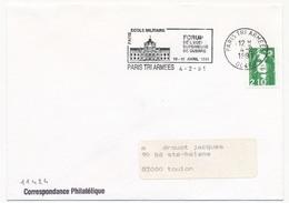 FRANCE - OMEC - Paris Tri Armées 00480 - Ecole Militaire Forum... 1991 - Marcophilie (Lettres)