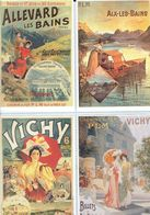 4 Anciennes Pubs Pour Les Chemins De Fer P.L.M. - Allevard Les Bains - Aix Les Bains - Vichy - Ferrovie