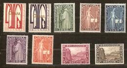 Belgie Belgique  1928 OCBn° 258-266  (*) MLH  Cote 90 Euro 1° Orval - Belgique