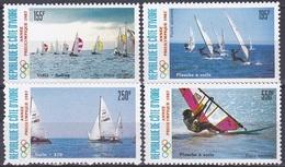 Elfenbeinküste Ivory Coast Cote D'Ivoire 1987 Sport Spiele Olympia Olympics Segeln Sailing Schiffe Ships, Mi. 950-3 ** - Côte D'Ivoire (1960-...)