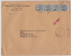 USA 1949 LETTRE DE NEW YORK POUR LAUSANNE  PERFORE - Perforés