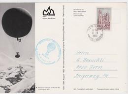 SUISSE 1965 POSTE PAR BALLON DE MÜRREN CACHET ARRIVEE SAMOENS - Cartas