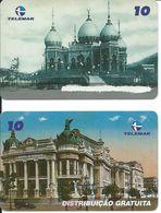 SERIE COMPLETE 2 Télécartes Brésil 5 000 Ex-  RIO DE JANEIRO   (D 322) - Paysages