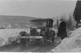 Automobile Berliet Dans La Neige - Carte Photo Ancienne Originale - Cars
