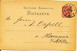 Germany Postcard Postal Stationery Lübeck 23-10-1875 - Entiers Postaux