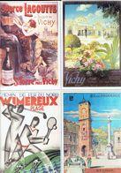 4 Anciennes Pubs Pour Les Chemins De Fer Du Nord Wimereux - Aix En Provence - St Yorre - Vichy - Ferrovie