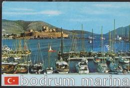 TURCHIA - BODRUM MARINA - VIAGGIATA FRANCOBOLLO ASPORTATO - Turchia