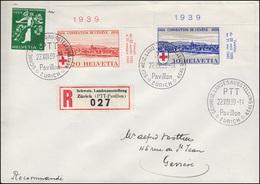 Schweiz 357-258 Rotes Kreuz Als Eck-Satz Oben Rechts Auf R-FDC ESSt 22.8.1939 - Zwitserland