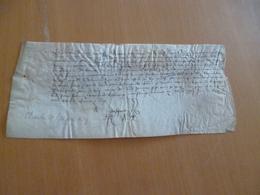 Règne De Charles VII Pièce Sur Velin Signée Jean Pasquot Notaire Royal 22/05/1431 In Folio Reçu Affaire D'état Voir Desc - Manuscritos
