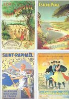 4 Anciennes Pubs Pour Les Chemins De Fer De L'état Les Sables D'Olonne - P.L.M. St Raphael - - Ferrovie