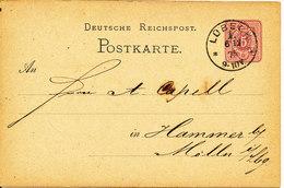 Germany Postcard Postal Stationery Lübeck 6-12-1875 - Entiers Postaux