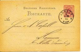 Germany Postcard Postal Stationery Lübeck 8-11-1875 - Germany