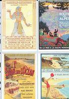 4 Anciennes Pubs Pour Les Chemins De Fer De L'état Sion En Vendée - Marseille-Alexandrie - Route Des Alpes - Ferrovie