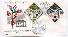 RC 7605 MONACO FDC ENVELOPPE 1er JOUR SIEGE DE L' UNESCO 1959 - FDC