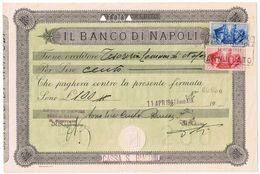 Fede Di Credito Banco Di Napoli . 4/1941 - Storia Postale