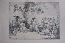 GRAVURE 886 / SACRIFICE AU DIEU PAN Par J.J. LAGRENEE Né à PARIS EN 1740 - Stiche & Gravuren