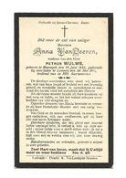 D20. ANNA  VAN  DEEREN  Wed. P. Wulms  - °MAESEYCK 1832  /  +LOMMEL 1911 - Images Religieuses