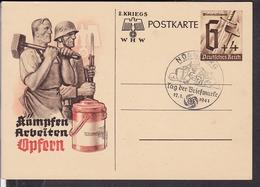 Ganzsache Deutsches Reich Sonderstempel Nünberg Tag Der Briefmarke 1941 - Deutschland