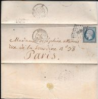 MONTPELLIER A PARIS ENVELOPPE CIRCULEE 1859 FULL CONTENT INSIDE VOIR SCAN - 1853-1860 Napoleon III