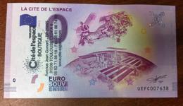 31 TOULOUSE CITÉ DE L'ESPACE TAMPON BILLET EURO SOUVENIR 2018 EURO SCHEIN PAPER MONEY BANK NOTE NANKNOTE - France