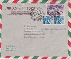 ITALIE 1950 LETTRE DE MILAN POUR LEIPZIG - 6. 1946-.. Republik